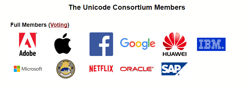 ❗ unicode-consortium-full-members ❗